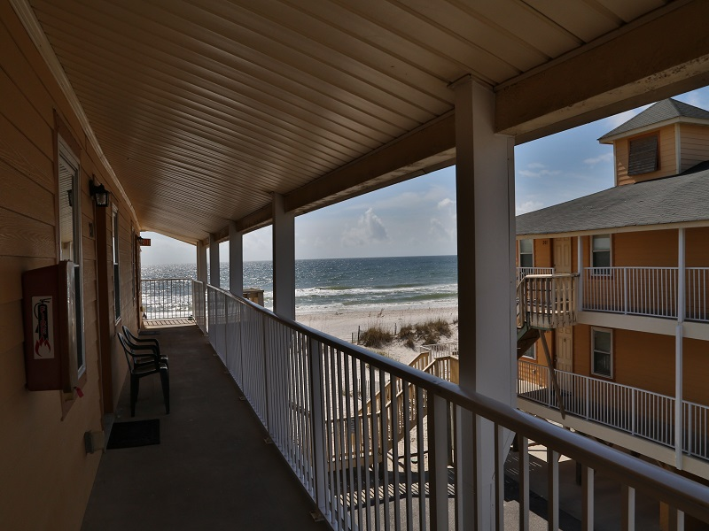 Viiew from common breezeway - just steps to the beach!