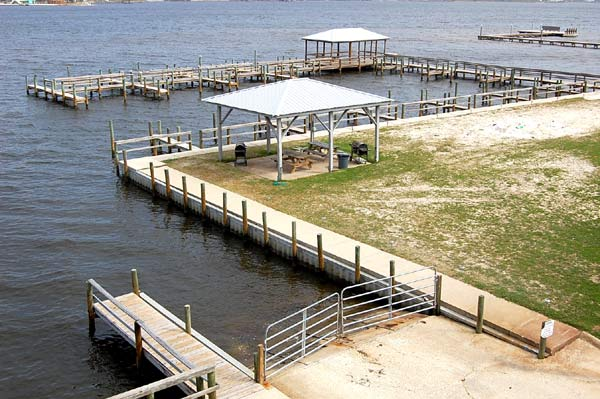 Boat launch, pier and gazebo area
