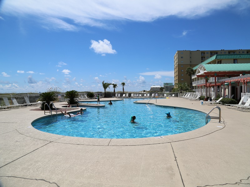One of six outdoor pools!