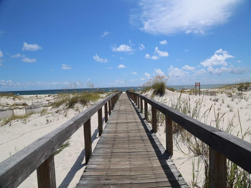 Boardwalk to beach!