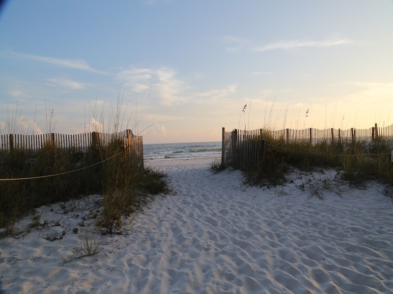 Walk out to the white sand beach at Sunchase