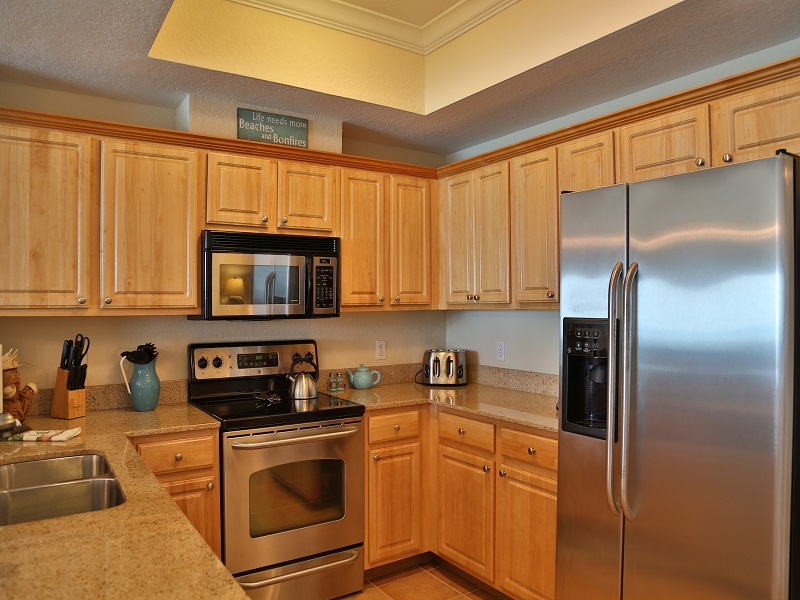 Modern appliances and granite counter
