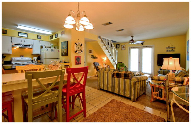 Kitchen, Living & Dining areas