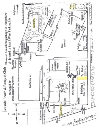 Map of site, condo and pools