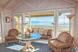 LIving Room with a view of Tahoe