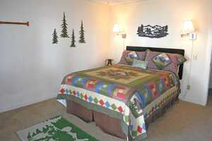 Master Bedroom with a viiew of Tahoe