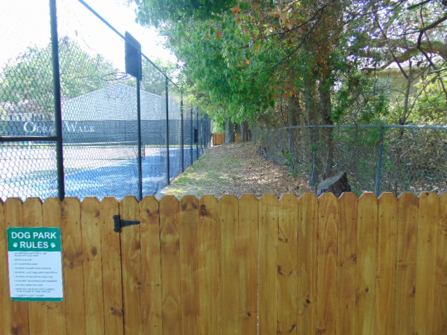 Dog Run by tennis courts
