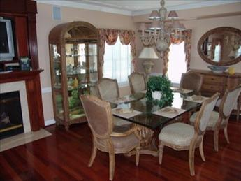 Hardwood dining room  furniture with wonderful accents
