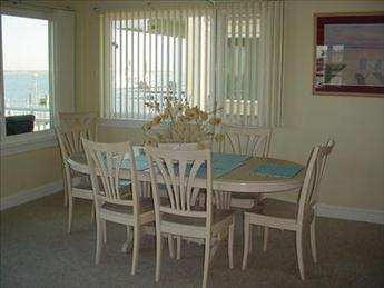 Dining area with bay views