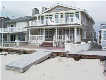 front exterior from beach