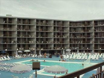 Ocean Colony condos boast two pool and huge sundeck