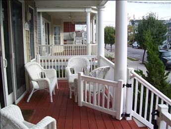 front porch looking east