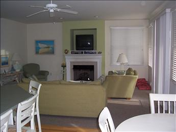 living area from the dining area