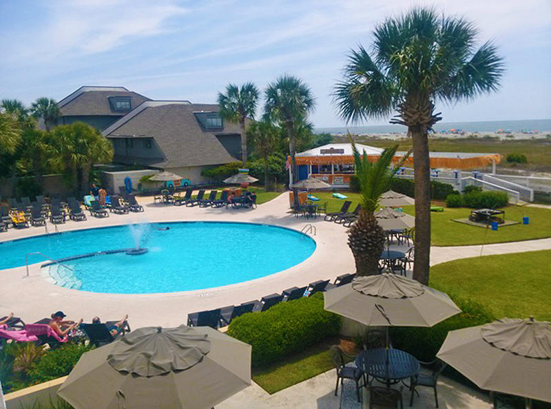 Relax ocean side at the Sandbar and Adult Pool.