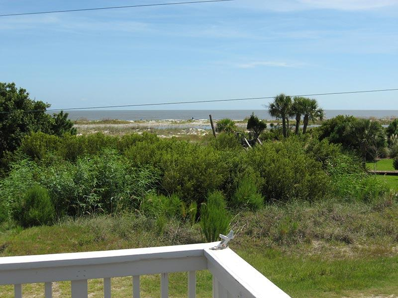 View of beach from outside deck