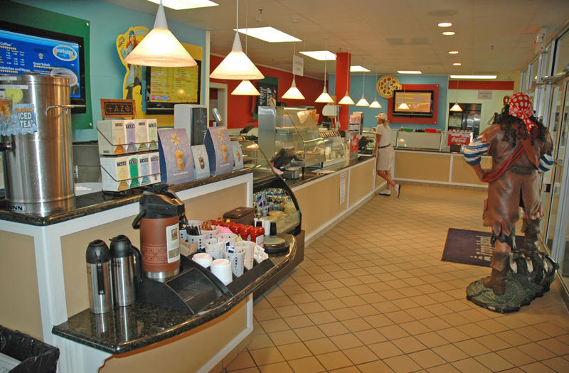 Grab a quick meal at the Food Court.