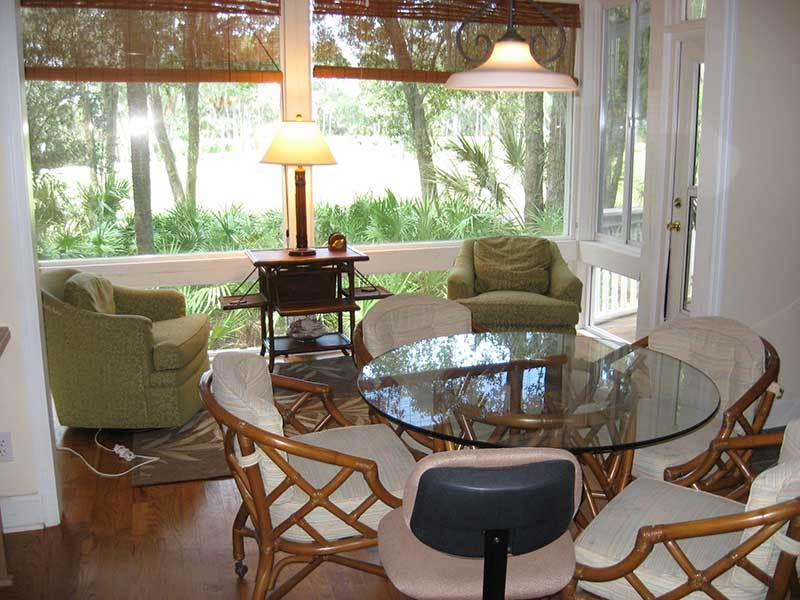 SITTING AREA WITH VIEW OF GOLF COURSE