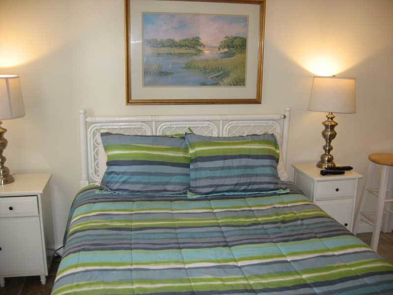 Cozy bed that is perfect for afternoon naps or dreaming throughout the night about your amazing Fripp vacation.