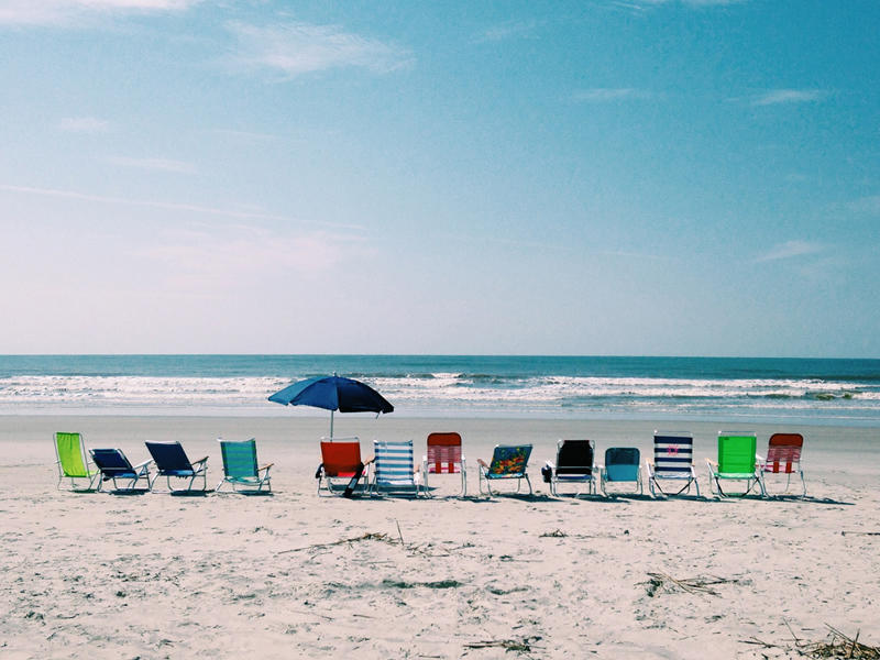 Dig your toes in the sand and relax on 3 1/2 miles of beach.