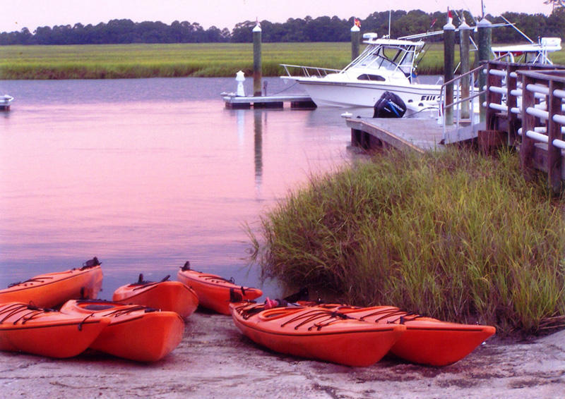 Kayaks can be rented from Island Rentals at the Fripp Island Marina.