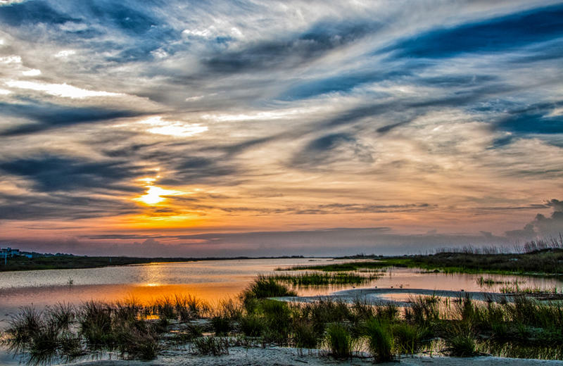 The lowcountry provides some pretty spectacular sunsets.