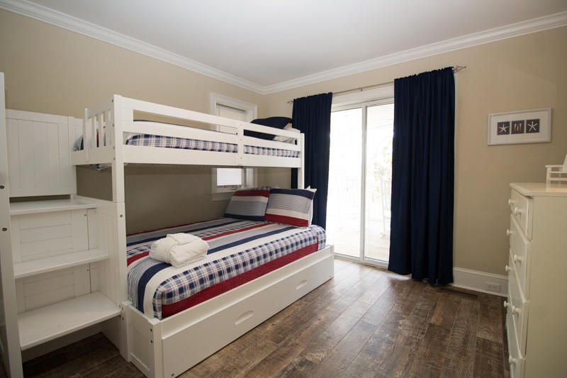 First floor bedroom with full/twin bunk and trundle