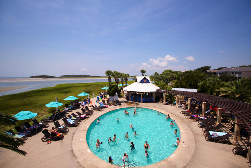 Cabana Club Grill and pool are family favorites.