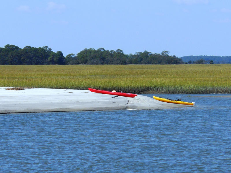 Rental kayaks and explores the waters surrounding Fripp.