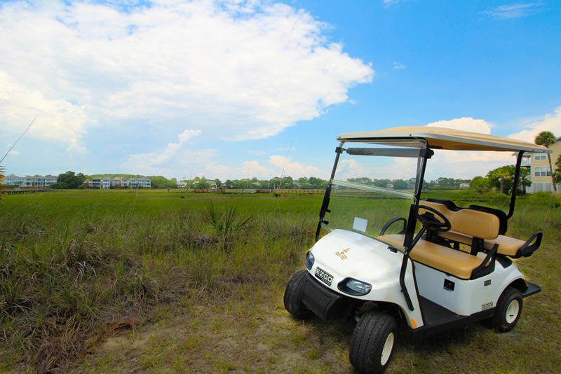 This unit includes a golf cart with all rentals (excluding monthly).