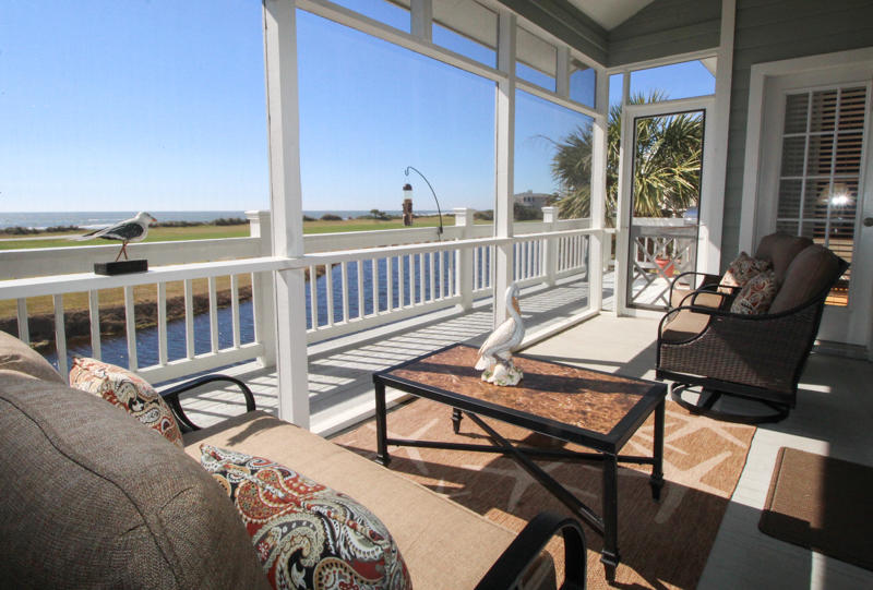 Screened porch off living room