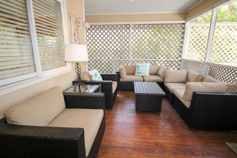 Screened in Porch off Living Room