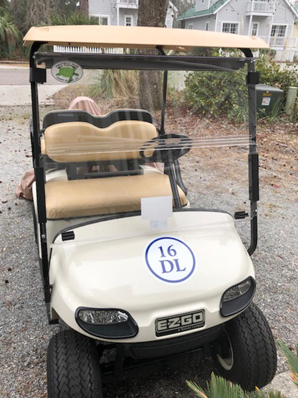 Owners Golf Cart for Guest Use