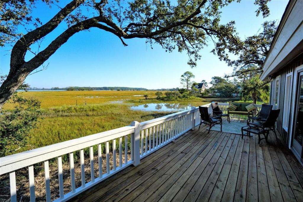 Deck with Beautiful Marsh View