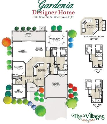 3487 rabbit run path 3 bedroom vacation house rental the for The villages gardenia floor plan