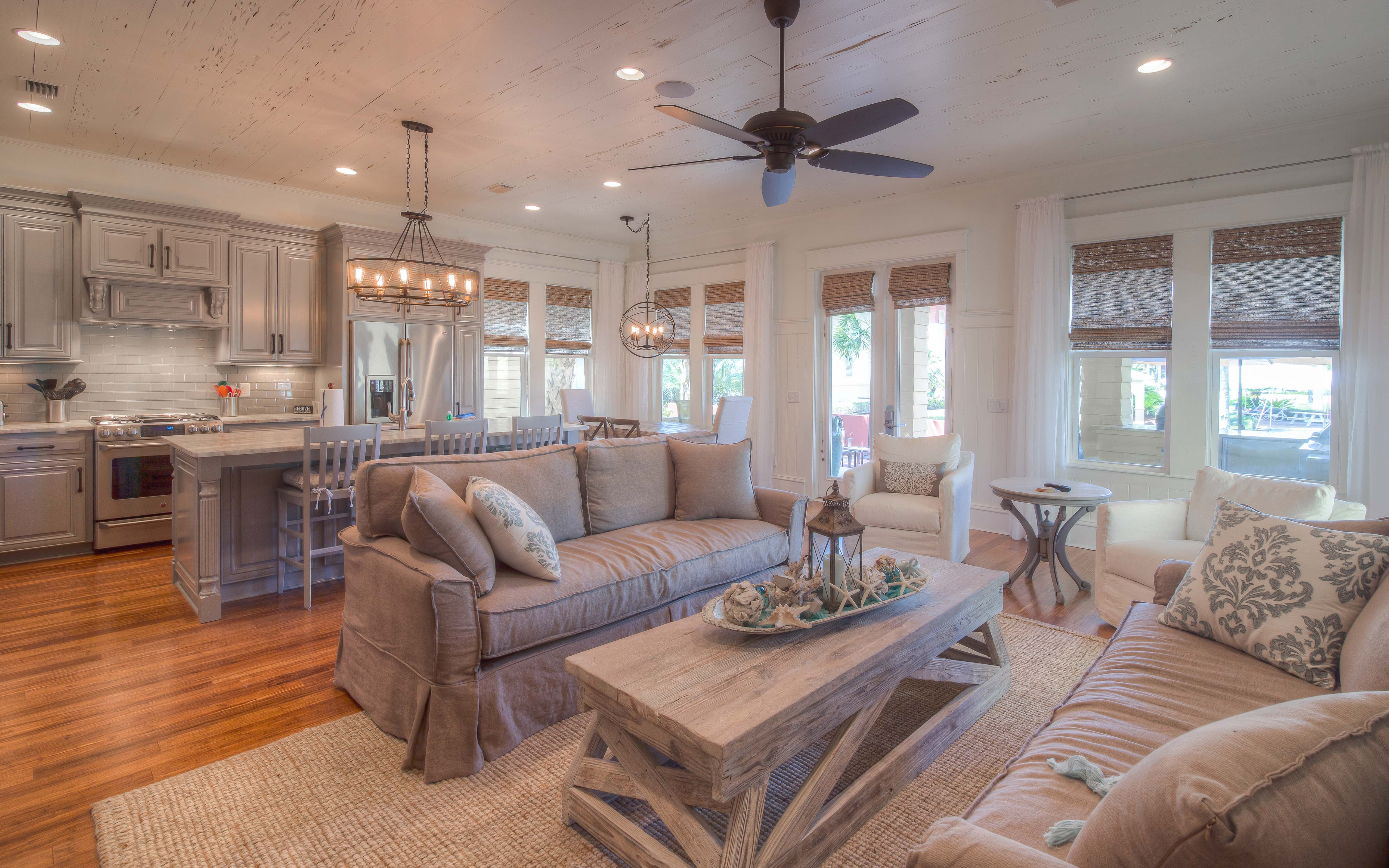 Newly Remodeled Seacrest Resort Home, Backs Up To