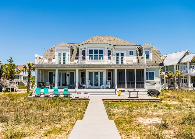 Oceanfront vacation home on Bald Head Island with 4 bedrooms dog friendly