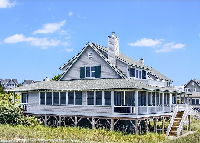 Oceanfront Bald Head Island 4 bedroom house rental for your next Family Vacation