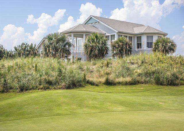 Bald Head Island golf course home with ocean views