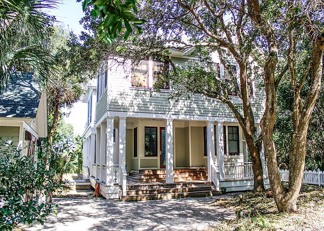 Family home for summer vacation in Bald Head Island, NC with 4 bedrooms it sleeps 10