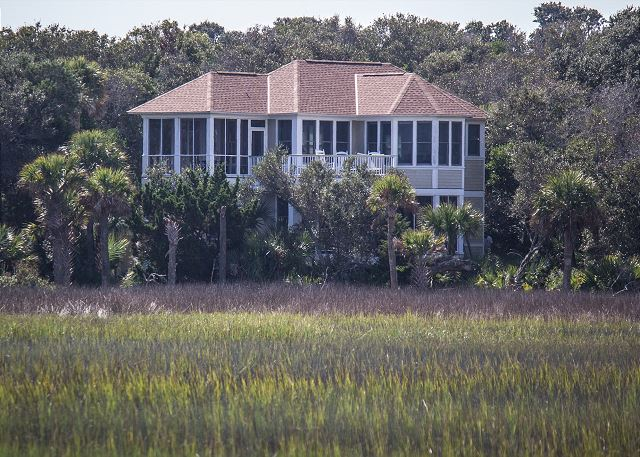 Marsh and Ocean views in this Bald Head Island Vacation Home with 4 bedrooms and amazing design
