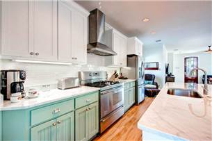 Kitchen with Stainless and Carrara Marble
