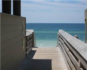 Pavilion, Parking, and Handicap Accessible Ramp at the beach access