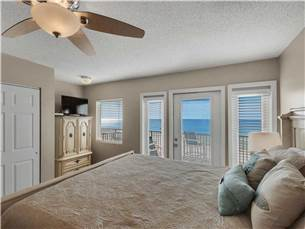 3rd Floor Master Bedroom with Flat Screen TV and Gulf View