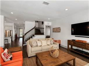 Living Area on 1st Floor with Flat Screen TV