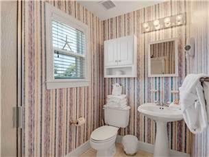 Carriage House Bathroom with Walk in Shower