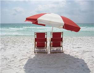 Complimentary Beach Chair Service is Setup for You Each Day in Season