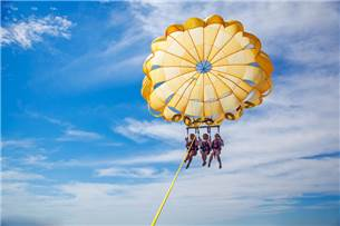 Free Adult Admission for Parasailing in Season