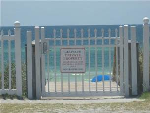 Private Beach Access Steps From Gulfview