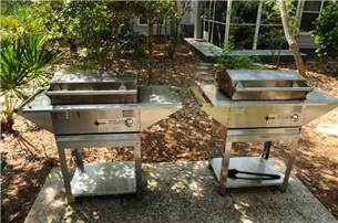 Community grilling areas throughout
