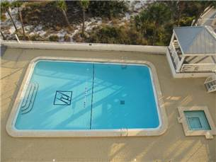 View of Gulf side pool